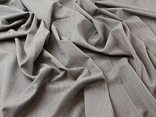 Wolle Nadelstreifen Passend (Wolle-Mischgewebe Nadelstreifen Stretch passend Kleid Stoff braun & pink-Meterware)