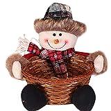 SamMoSon Cesto di stoccaggio di Caramelle di Natale Decorazione Cesto di immagazzinaggio di Babbo Natale - Cesto di Caramelle di Natale 1A