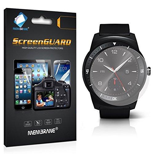 Membrane 3 x Pellicola Protettiva Compatibile con LG G Watch R - Trasparente