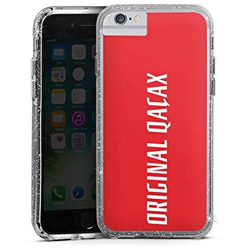 Apple iPhone 6 Bumper Hülle Bumper Case Glitzer Hülle Xatar Fanartikel Merchandise Merchandising Pour Supporters Bumper Case Glitzer silber