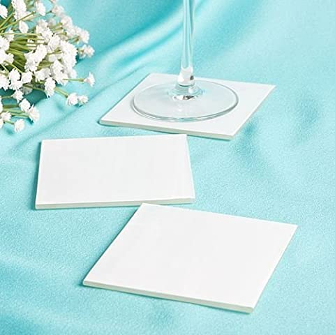 12 X perfettamente chiaro Milky White Wedding & Glass partito Coasters favori