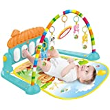 VikriDa Baby Musical Activity Play Mat | Kick and Play Piano Gym Center with Hanging Rattlers Toys | Electronic Learning Toys for Infants, Newborn