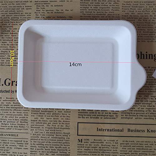 ller grünes Papier Zellstoff Tablett rechteckige Essen Tablett Papier Geburtstagstorte Platte 100PCS geladen 5,5 Zoll ()