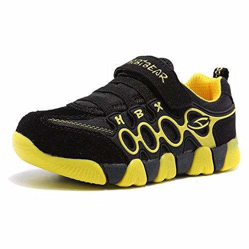 Jungen Running Sneakers Hook & Loop Mädchen leichte Sportart Schuhe Turnschuhe für Unisex-Kinder