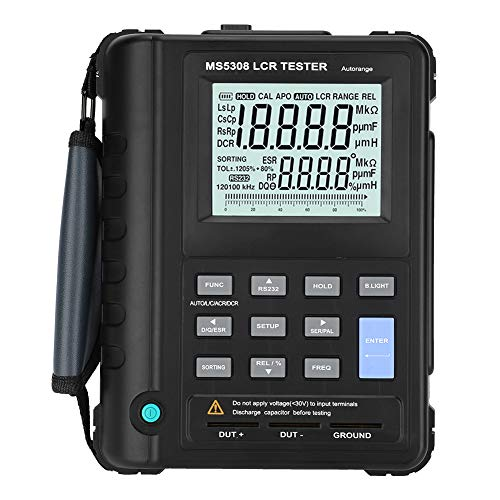 Multimetro Digitale, Akozon MS5308 tester LCR Misuratore di Capacità di Induttanza Portatile da 100Khz con Portata Automatica Misuratore di Portata
