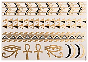 Egypt Gold Sheet no. 3 de POSH TATTOO ||| Metallic Tattoo | Flash Tattoos | La nueva moda de Hollywood de SveJona