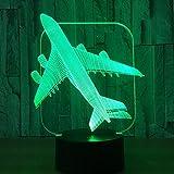 Licht Der Nacht 3D Cooles Spielzeug 3D Kampfflugzeug Modell Kreative Nachtlicht Touch Jet Flugzeug Schreibtisch Lampe Led Illusion Lampe Nachttischlampe