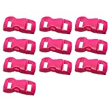 Excellent112 Kurzwaren-Schnalle – Mehrzweckschnalle, solide, flexibel, Seitliche Entriegelung, für Haustiere, konturiert, 10 Stück, rosarot, Free Size