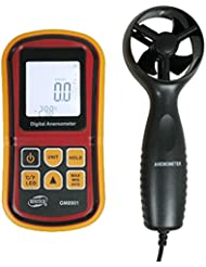 BENETECH LCD numérique Vent Vitesse Mesure de Température Jauge de mesure de Vitesse Anémomètre / Air - Outil Idéal pour planche à voile, pêche, cerf-volant et d'alpinisme