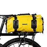 BAIGIO Borsa per Bicicletta Impermeabile Borsa Bici Portapacchi Borse Sportiva Borsone da Viaggio Multifunzionale Borsa da Palestra 20L (Giallo)