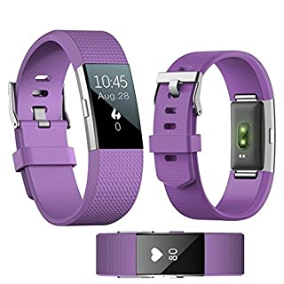 Fitness Tracker, ANGGO Smart Bluetooth Waterproof Pedometer Fitness Bracelet Running Sports Wristband with Heart Rate Monitor, Step/Calorie Counter, Sleep Monitor,Call reminder for iPhone and Android (Purple)