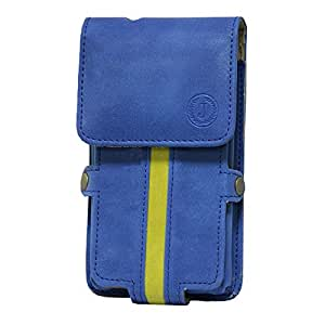 Jo Jo A6 Nillofer Series Leather Pouch Holster Case For Panasonic P81 Dark Blue Parrot Green