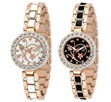 Swisstyle Anolog Black and White Dial Women Combo Watch-SS-1504-CMB