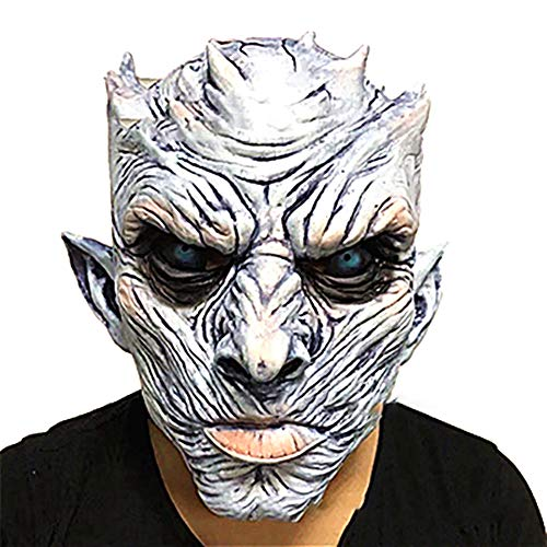 Xiton 1pc Halloween Night King Ghost Maske Männer Creepy halloweenmaske Halloween Movie Party White Walker Maske Kostüm Cosplay