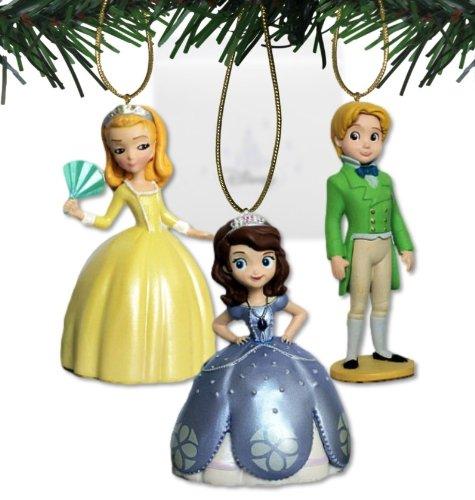 Disney 's Sofia die Erste 'Sofia, Bernstein, und James' 3-teiliges Schmuck Set–(3) PVC Ornaments enthalten–Limited Verfügbarkeit