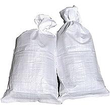 10 Hochwasser Sandsäcke PP Sandsack Hochwassersack weiß