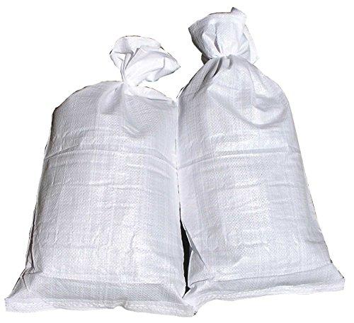10 Hochwasser Sandsäcke PP Sandsack Hochwassersack weiß + 1 Glasbeutel