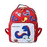 squarex Dinosaurier Rucksack, Baby Mädchen Jungen Cartoon Dinosaurier Tier Rucksack Schultasche Rot Rot Size L: 25X12X33cm