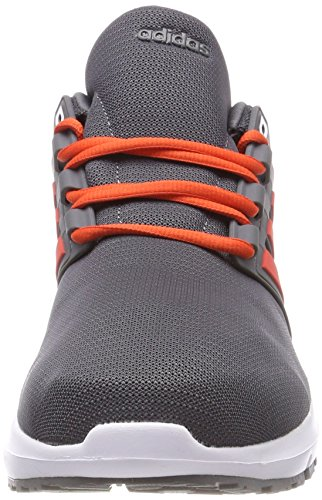 adidas Energy Cloud 2 M, Chaussures de Running Homme Gris (Grey Five/Hi-Reset Red/Hi-Reset Red 0)