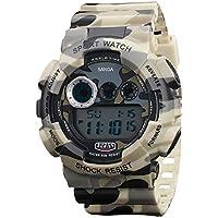 Tenflyer Alarma de la fecha de los hombres del Ejército Militar de Infantería LED Digital impermeable de los deportes de goma del reloj