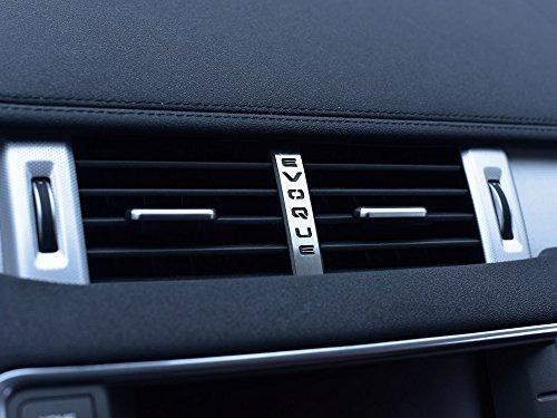 Interieur Stahlabdeckung für 2011-2018 Evoque - 1 Stück Luftdüsen Emblem Platte Edelstahl Gebürstet Blenden Cockpit Dekor Mass Angefertigt