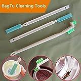Groove Gap strumenti di pulizia–Tazza Bagtu allattamento bottiglia finestra porta Track Castor cucina pulizia pennelli, confezione da 3