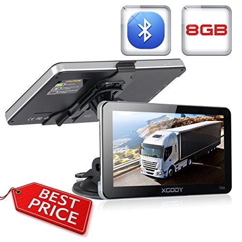 Xgody 704 - Sistema de navegación GPS Bluetooth para coche, pantalla táctil...