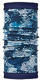 Set - Buff® Polar Reversible Halswärmer + UP® Ultrapower Schlauchtuch | Schal | Wintermütze | Nackenwärmer | Polartec®, Buff Design:Winter Garden Blue - 115308.707.10.00