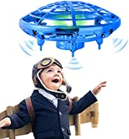 infinitoo Mini UFO Flying Ball Toys, Hand-Controlled Drone With 5 Infrared Sensors Kids Flying Toys for Boys a