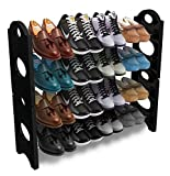 Shopeleven  Store 4 Layer 12 Pairs Shoe Rack