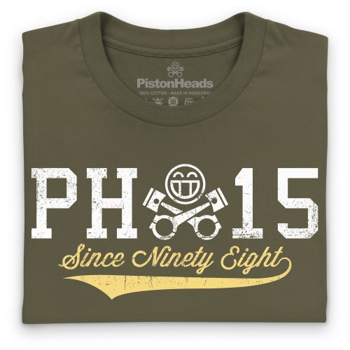 PistonHeads Since Ninety Eight T-Shirt, Herren Olivgrn