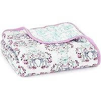 aden + anais couverture de rêve dream blanket, quatre épaisseurs de mousseline 100% coton, 120cm x 120cm
