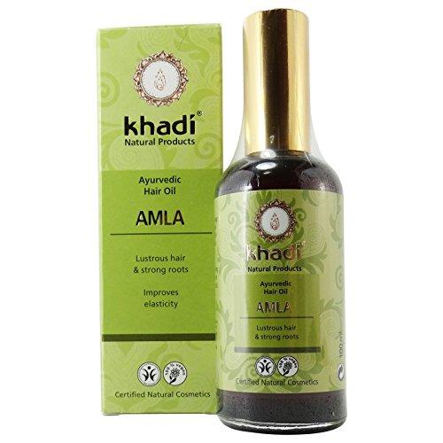 Khadi Olio Amla per Capelli Rinforzante Stimolante Crescita Anti Forfora Caduta