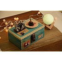 Preisvergleich für Baby-lustiges Spielzeug Kreative Retro Stil Holz Nähmaschine Design Spieluhr Für Desktop Aufbewahrungsbox