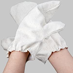 One pair of Garshan Massage Gloves from MASSAGE-EXPERT made of hand-woven, chemical-free indian raw silk, sewn in Germany