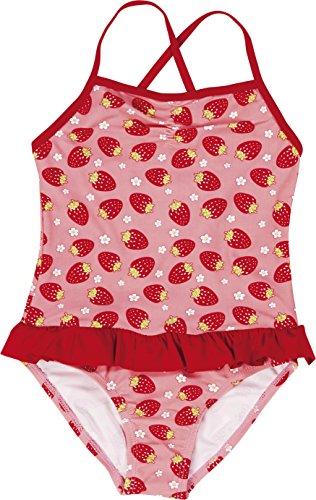 Badeanzug Erdbeer (Playshoes Mädchen Badeanzüge Erdbeeren, Gr. 110 (Herstellergröße: 110/116), Mehrfarbig (original 900))