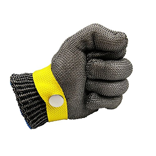 Cleanpower guanti di sicurezza in acciaio INOX 316L filo da macellaio guanto taglia M livello 5protezione