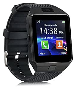 Celkon Millenia Q 550 (16GB) COMPATIBLE Bluetooth Smart Watch Phone With Camera and Sim Card Support With Apps like Facebook and WhatsApp Touch Screen Multilanguage Android/IOS Mobile Phone Wrist Watch Phone with activity trackers and fitness band features By mobicell