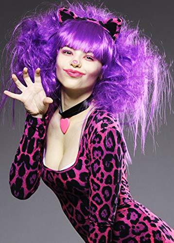 Struts Womens Lila Cheshire Cat Style Perücke (Cheshire Cat Perücke)