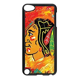 Ipod Touch 5 Phone Case for CHICAGO BLACKHAWKS LOGO pattern design GCB80QLG596752