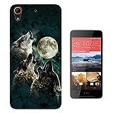 002351 - Collage Wolf Moon View Design HTC Desire 628