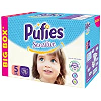 Pufies Sensitive Talla 5, 11-20 Kg - 78 Pañales