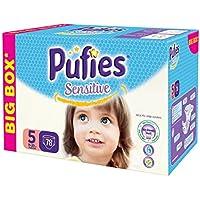 Pufies Sensitive Talla 5, 11-20 Kg - 78 Pañales