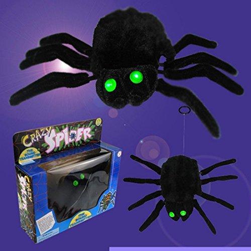 WILLIAM & KATE Halloween Trick Spielzeug Elektronische Lustige Spinne Stimme Spinne Hängende Linie elektrische Aufzug Horror Halloween Bar liefert ganze Spielzeug für Halloween Weihnachten Lustige Spielzeug Horror Spielzeug