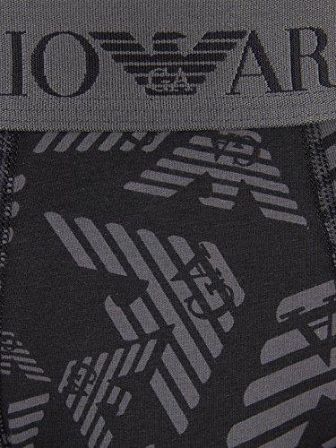Emporio Armani Herren Stretch Cotton Logo Bund Trunks, Grau Grau