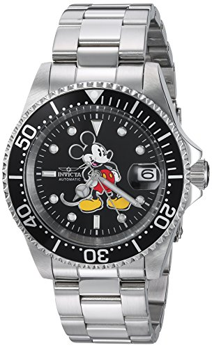 Invicta 24607 Disney Limited Edition - Mickey Mouse Reloj Unisex acero inoxidable Automático Esfera negro