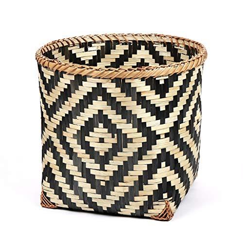KKY-ENTER Panier à linge Creative Bamboo Braid Panier à linge sale Vêtements Divers Home Rangement Panier 35 * 26 * 30cm Coffre à Linge