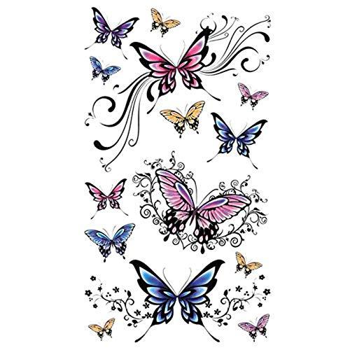 kashyk 1pc Schmetterling Tattoo Aufkleber, wasserdicht, schweißdicht, temporäre Tattoo Aufkleber, perfekte Urlaub und Party Zubehör, Hochzeit