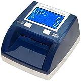Detector billetes falsos con batería EUR,GBP, SEK, testado por el BCE, cuenta billetes y suma el importe, actualizable admite nuevos billetes de 50€, Yatek SE-0320-B