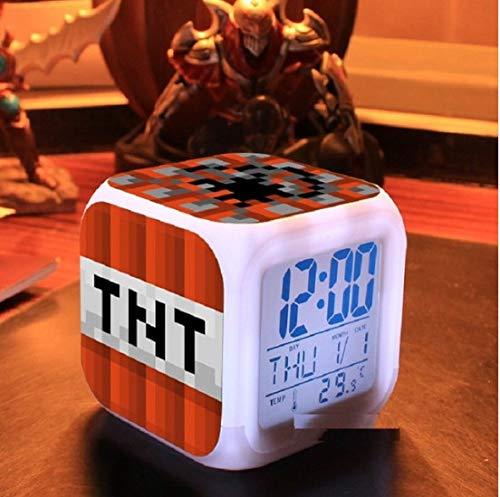 ZHONGQIAN Alarm Clock Touch Light and Cartoon Anna